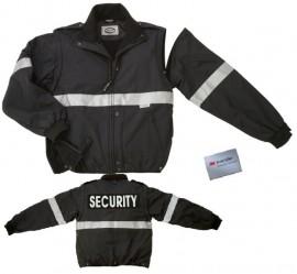 Fleece Safety Rain Jacket