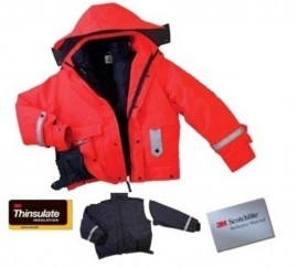 5 in 1 Four Seasons Safety Rain Bomber Jacket