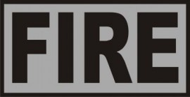 *REFLECTIVE FIRE PATCH