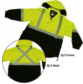 --Summer Two Tone Safety Rain Jacket