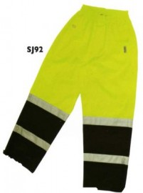 --Summer Two Tone Safety Rain Pants