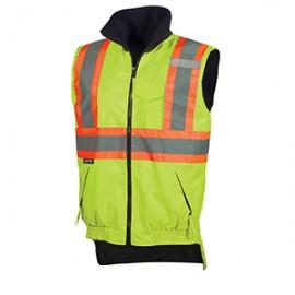 ---Hi/Viz Reversible Fleece Lined Vest