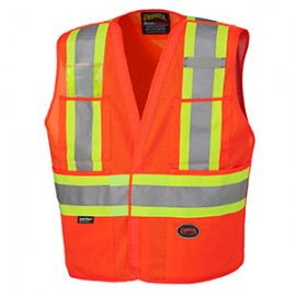 ---Solid Orange or Lime Safety Vest