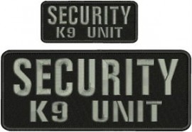 Security Embroidered Patches ***Call or Email for a Quote